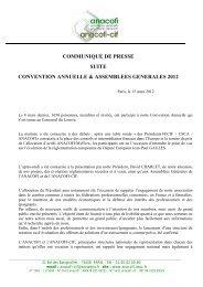 communique de presse suite convention annuelle ... - Anacofi