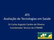 ATS Avaliação de Tecnologias em Saúde - Unimed do Brasil