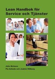 Lean Handbok för Service och Tjänster - Lean Forum
