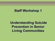 Staff Workshop 1 - SAMHSA Store