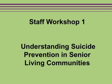Staff Workshop 1 - SAMHSA Store