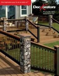 Deckorators Outdoor Living Products Professional Guide - French