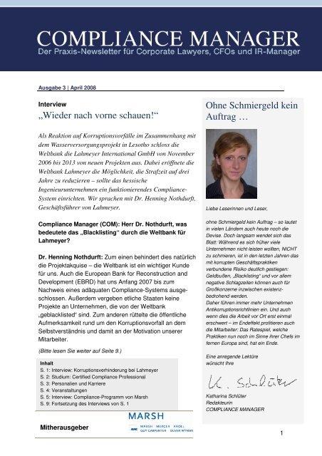 (PDF) | Ausgabe April 2008 - Compliance