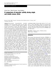 A comparison of muscular activity during single and ... - ResearchGate