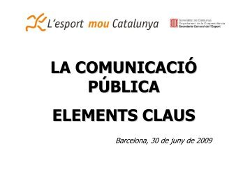 comunicaci? p?blica - Plataforma Esport i Dones