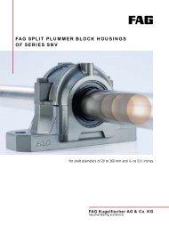 FAG SNV Plummer Blocks - Reliance Bearing