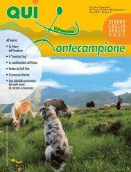 qui montecampione n° 2 giugno-luglio-agosto 2005 - Consorzio di ...