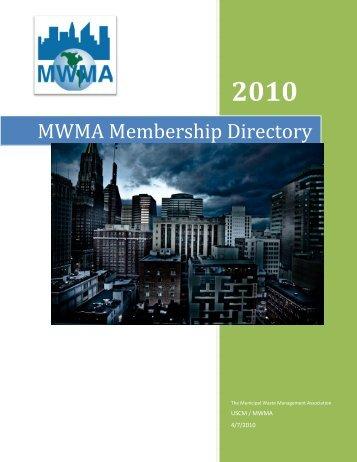 MWMA Membership Directory - U.S. Conference of Mayors