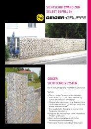 Sichtschutzwand - H. Geiger GmbH Stein