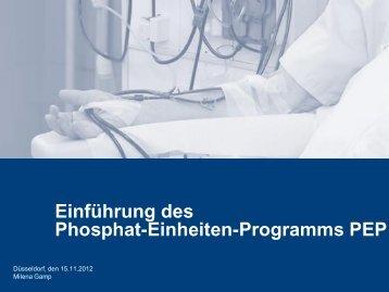 Einführung des Phosphat-Einheiten-Programms PEP - WB-nephro.de