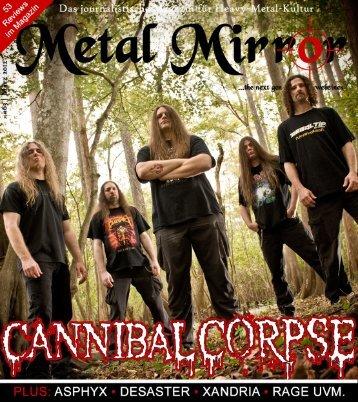 METAL MIRROR #63 - Cannibal Corpse, Desaster, Asphyx, Xandria ...