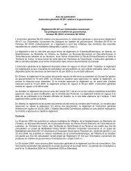 Règlement 58-101 sur l'information concernant les pratiques en ...