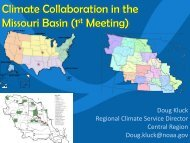 Climate Collaboration in the Missouri Basin (1st Meeting) - Regional ...