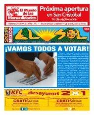 Â¡VAMOS TODOS A VOTAR! - ElsoldeMixco.com