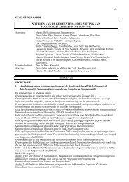 beslissingen gemeenteraad 29 april 2013 - Stad Oudenaarde