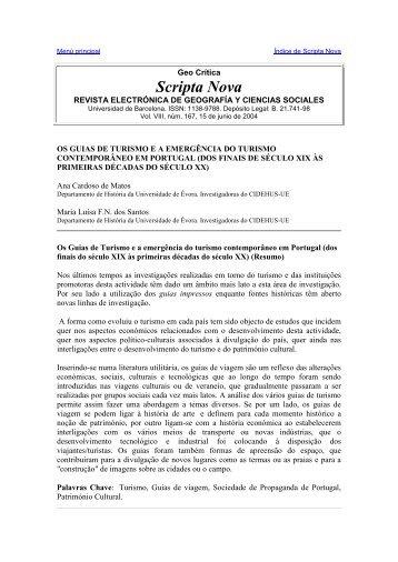 Os Guias de Turismo da cidade de Évora no contexto do turismo ...