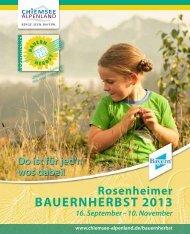 Bauernherbst-Broschüre - Rosenheimer Bauernherbst