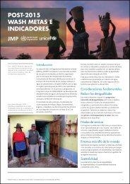 POST-2015 WASH METAS E INDICADORES