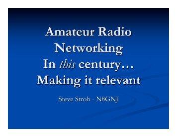 Amateur Radio Networking - Broadband Wireless Internet Access ...