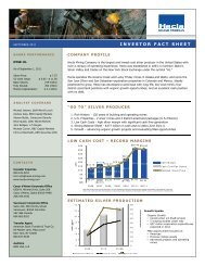 INVESTOR FACT SHEET - Hecla Mining Company