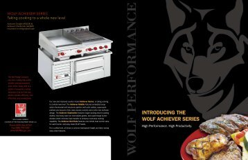 View Achiever Series brochure - Wolf Stoves Home
