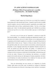 UN APOCALÍPTICO ESPERANZADO (Prólogo al ... - Claudio Naranjo