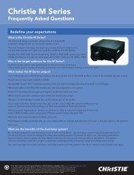 Christie M Series FAQ - Christie Digital Systems