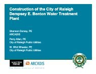Construction of the City of Raleigh Dempsey E Benton Water ...