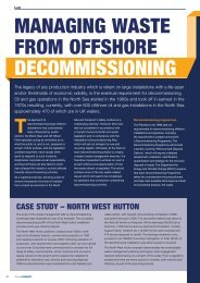 managing waste from offshore decommissioning - Burges Salmon