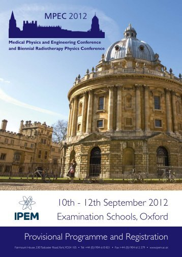Provisional Programme - Institute of Physics and Engineering in ...