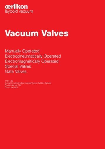 Vacuum Valves