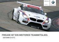 FREUDE IST EIN WEITERES TEAMMITGLIED. - BMW Motorsport