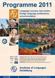 Programme 2011 - F+U Academy of Languages Heidelberg
