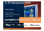 Unified Communications mit Microsoft - Oev-symposium.de