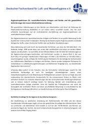 Hygieneinspektionen für raumlufttechnische Anlagen und Geräte ...