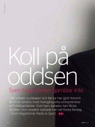 Sven Hagströmer gamblar inte - Posten