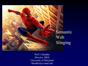 Semantic Web Slinging - University of Maryland