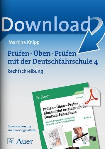 Prüfen - Üben - Prüfen mit der Deutschfahrschule 4