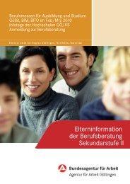 Elterninformation der Berufsberatung Sekundarstufe II