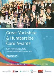 Great Yorkshire & Humberside Care Awards