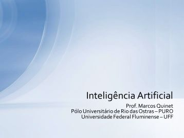 Inteligência Artificial - Professores da UFF
