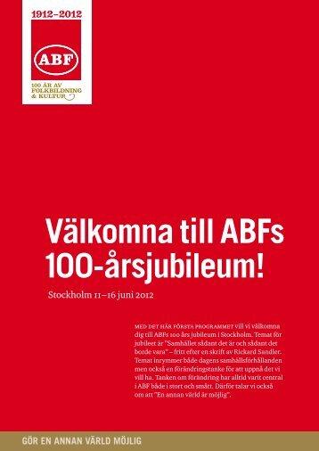 Välkomna till ABFs 100-årsjubileum! - IF Metall