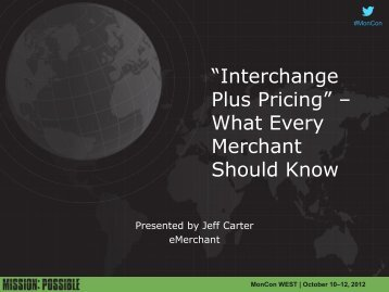 """""""Interchange Plus Pricing"""" – What Every Merchant Should Know"""