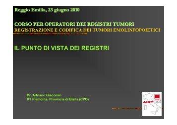 Tumori emolinfopoietici - Associazione Italiana Registri Tumori