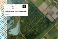 Gebiedsvisie Hollandse Hout - Gemeente Lelystad