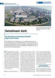Gemeinsam stark Die Vorteile des Industriepark-Modells liegen ... - KI