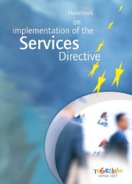 Handbook on implementation of the Services Directive - European ...