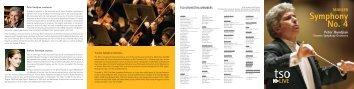 Mahler Symphony No. 4 - Season - Toronto Symphony Orchestra