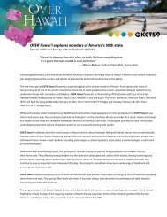 OVER HAWAII press release (PDF) - KCTS 9