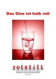 Das Glas ist halb voll - rotstift - SPÖ